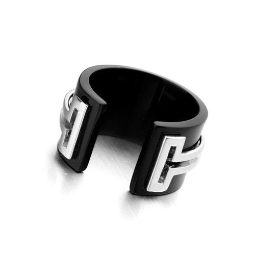 La Javardi Black Ceramic With White Gold Ring