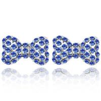 La Javardi Bowknot Stud Earring Swarovski Element Crystals
