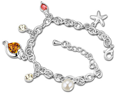 La Javardi Charms Bracelet Swarovski Elements Crystal