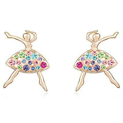 La Javardi Dancing Queen Earrings Swarovski Element Crystals
