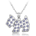 La Javardi Jewellery Dog Necklace Swaroski Element Crystal