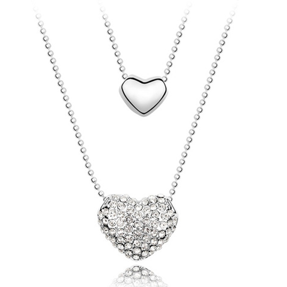 gold necklace shaped diamond pendant heart tilted c in necklaces white v peoples t w jewellers