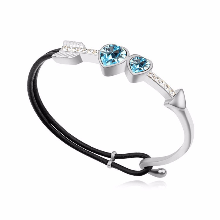 crystal bracelet opal pacific combo lv electric blue popesco and catherine large stone