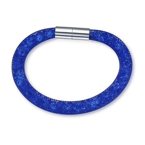 La Javardi Nylon Bracelet Mesh With Mini Cyrstals Blue