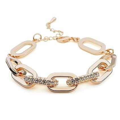 La Javardi Rose-Gold Plated Bracelet Austrian Crystal