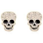 La Javardi Skull Earings Swarovski Element Crystal