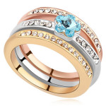 La Javardi Three Layered Rings Swarovski Element Crytals